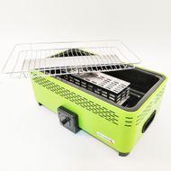SWISS OUTDOOR MONTREUX-400 Rauchfreier Tisch-Grill BBQ mit Lüfter in Grün Bild 3