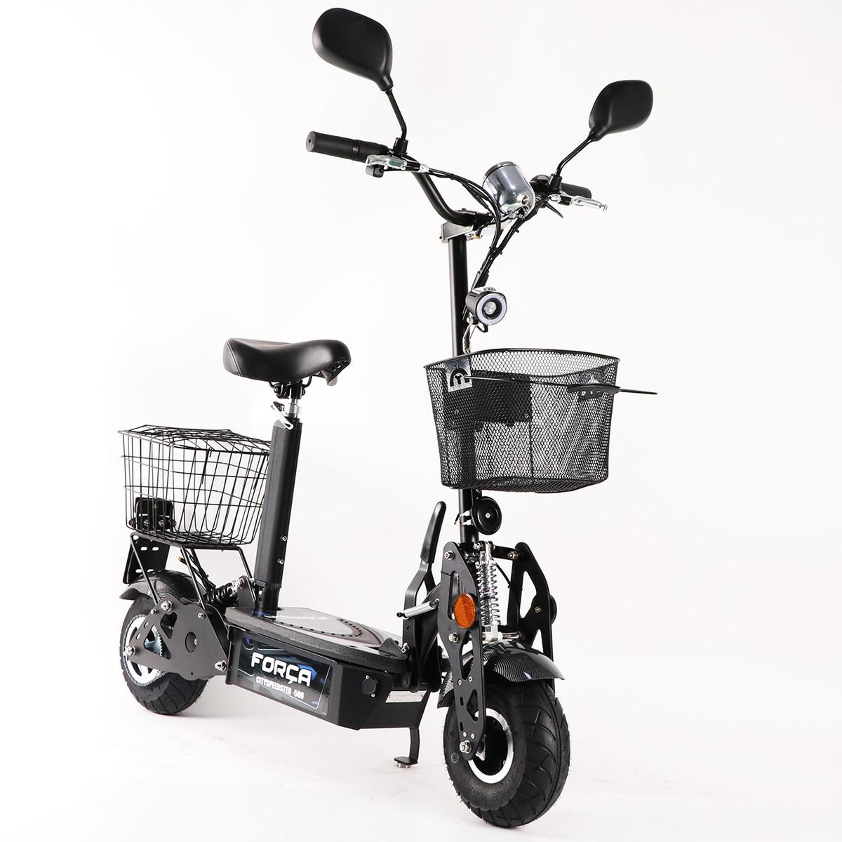 FORÇA CITYSPEEDSTER III 500 20 KM/H ElektroScooter mit Strassenzulassung SCHWARZ