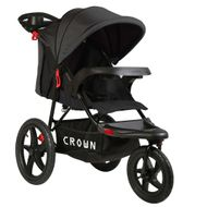 ST920 CROWN Deluxe SportWagen Travel Kinderwagen JOGGER Black-Grey