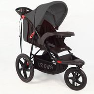 ST920 CROWN Deluxe SportWagen Travel Kinderwagen JOGGER Black-Grey  Bild 4