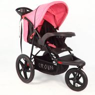 ST920 CROWN Deluxe SportWagen Travel Kinderwagen JOGGER Black-Pink Bild 1