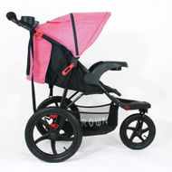 ST920 CROWN Deluxe SportWagen Travel Kinderwagen JOGGER Black-Pink Bild 2