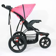 ST920 CROWN Deluxe SportWagen Travel Kinderwagen JOGGER Black-Pink Bild 3