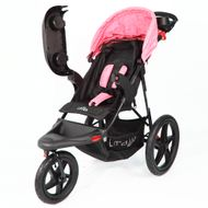 ST920 CROWN Deluxe SportWagen Travel Kinderwagen JOGGER Black-Pink Bild 4