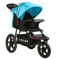 ST920 CROWN Deluxe SportWagen Travel Kinderwagen JOGGER Black-Blue Bild 1