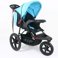 ST920 CROWN Deluxe SportWagen Travel Kinderwagen JOGGER Black-Blue Bild 2