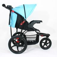 ST920 CROWN Deluxe SportWagen Travel Kinderwagen JOGGER Black-Blue Bild 3