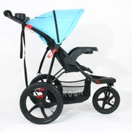 ST920 CROWN Deluxe SportWagen Travel Kinderwagen JOGGER Black-Blue