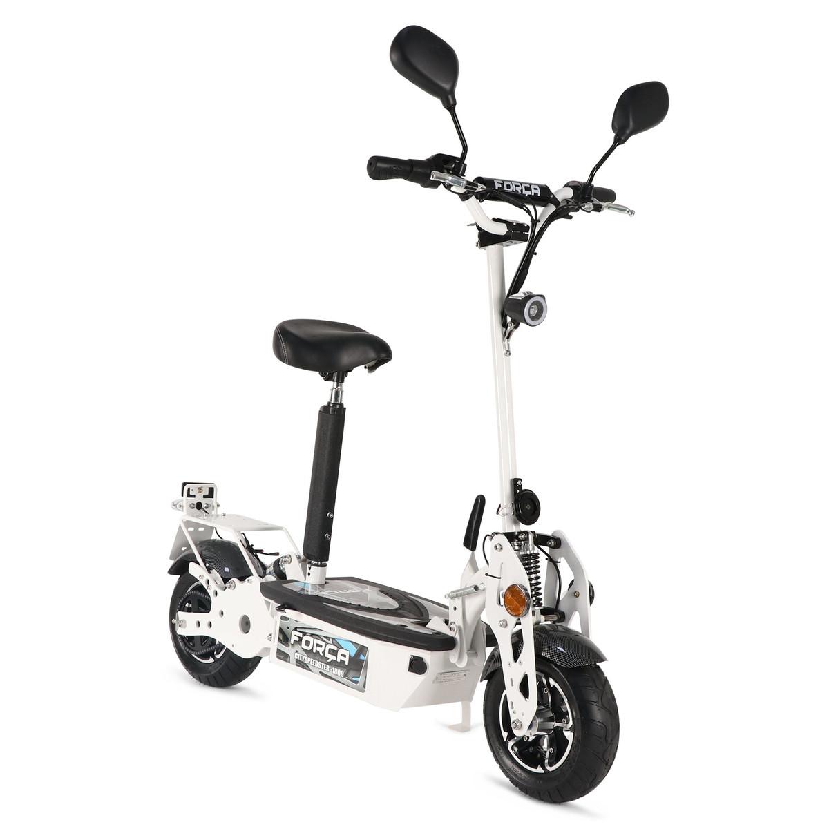 FORÇA CITYSPEEDSTER III 1800 WATT 45 KM/H ElektroScooter mit Strassenzulassung WEISS