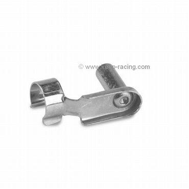 Clip, M6x24mm, Stahl, silber eloxiert