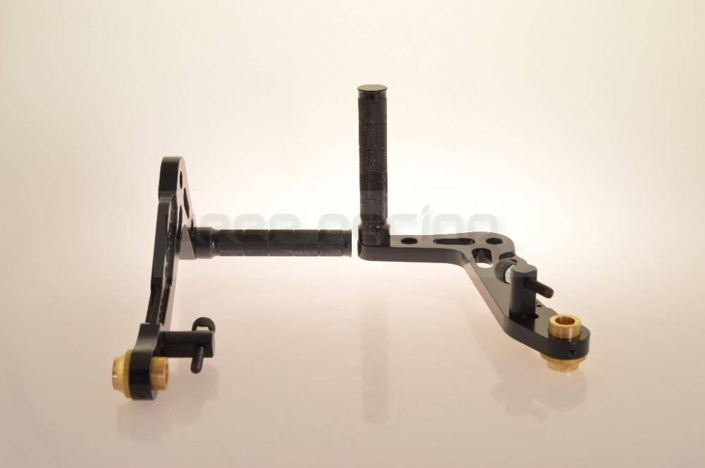 aluminium anodis p dale de frein p dale et p dale d 39 acc l rateur noir ch ssis et. Black Bedroom Furniture Sets. Home Design Ideas