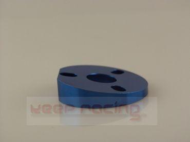 Unterlegplatte für Lenkradneigung, 5 Grad, blau eloxiert, Aluminium