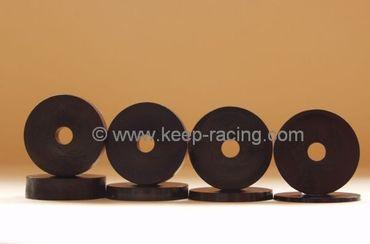 Satz Unterlegscheiben für Sitze/Sitzhalter, Kunststoff, 40x8x2/4/6/10mm, schwarz