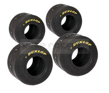 Satz Dunlop Kartreifen SL1, 2 x 10x4.50-5 & 2 x 11x7.10-5, (harte Mischung)