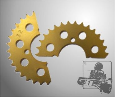 QUICK FAST SPROCKET 428 25T