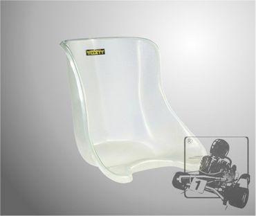 TILLETT Sitz T12 S, Polyester, transparent, white fibre