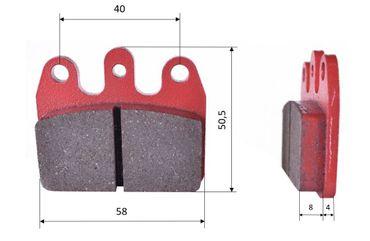 Set of brake pads (2 units), for CRG Ven 05 & MA20, rear (453)