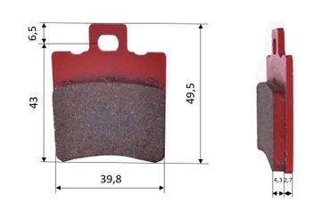 Set of brake pads (2 units), for Energy Corse/Kelgate, front (507)