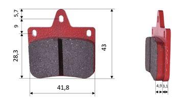 Set of brake pads (2 units), for CRG VEN-04 & VEN-06, front (526)