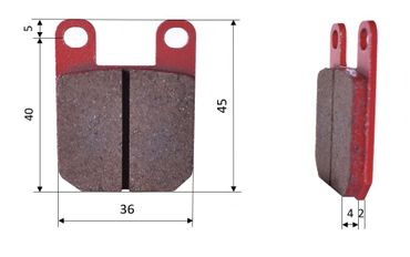 Set of brake pads (2 units), for Brembo, front (475)
