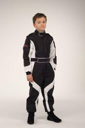 keep-racing Kartoverall, Modell Cruiser, schwarz/weiß, Größe 122 – Bild 1