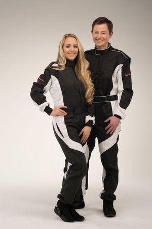 keep-racing Kart overalls, Model Cruiser, black/white, size 72(4XL)