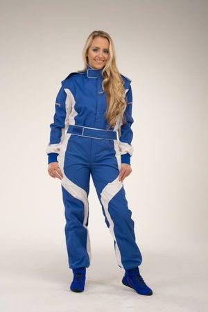 keep-racing Kartoverall, Modell Cruiser, blau/weiß, Größe 48(S) – Bild 1