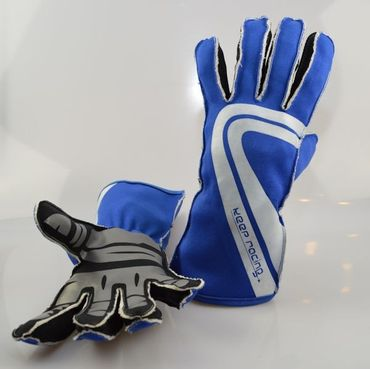 GRIP ULTRA Kart Handschuhe, blau, Größe 7 (XS)