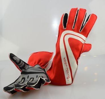 GRIP ULTRA Karting gloves, red, size 8 (S)