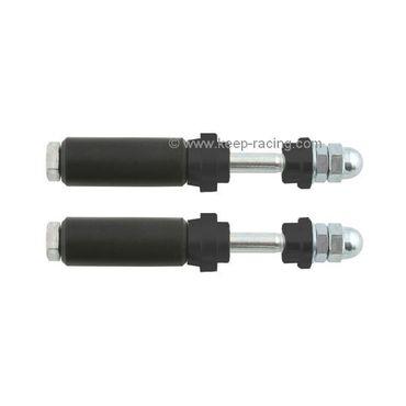Schraubensatz für Heckauffahrschutz XTR14 & KG, 28mm, schwarz