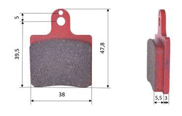 Set of brake pads (2 units), for CRG 2000UP / VEN 05 / MADDOX / GILLARD, front (472)