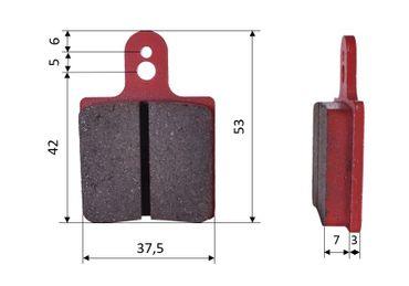 Satz Bremsbeläge (2 Stück), für Intrepid/AMV, vorne (522)