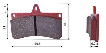 Set of brake pads (2 units), for CRG VEN-04, rear (527)