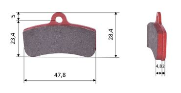 Set of brake pads (2 units), for PCR, front (540)