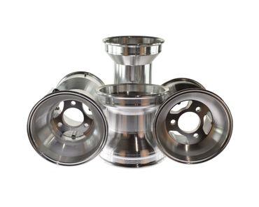 Aluminium Felgen, keep-racing®, 5 Zoll, 130/210mm, silber, Satz (2 x 130mm, 2 x 210mm)