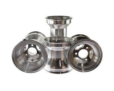 "KR ALU rims, 5"", 130/210mm, silver, Set (2 x 130mm, 2 x 210mm)"