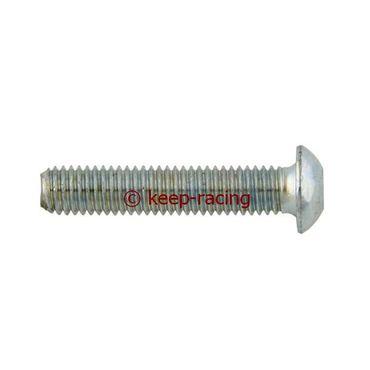 Linsenkopfschraube mit Flansch, M8x20, Metall 10.9, verzinkt