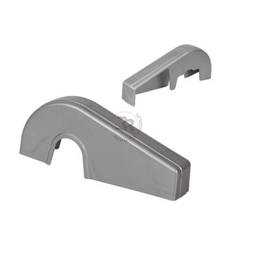 integral chain guard, silver colour