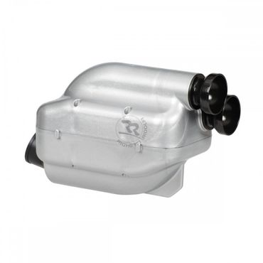 "Airbox 23mm, silver/black, Type ""NOX"", homologated"