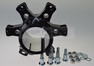 aluminium disk carrier floating for 50mm axle, black anodized