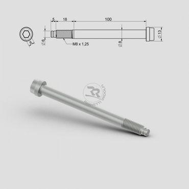 SCREW D.8 M8 FOR STUB AXLE L.100+18mm