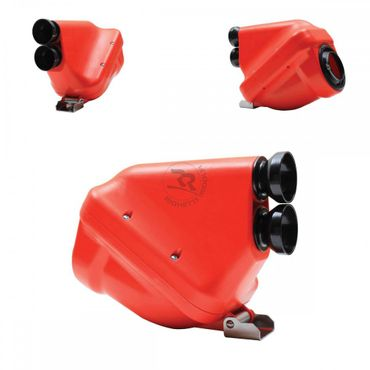 "Airbox 23mm, red/black, type ""ACTIVE"", homologated"