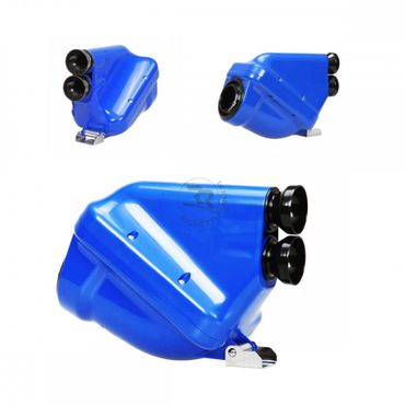 "Airbox 23mm, blue/black, type ""ACTIVE"", homologated"