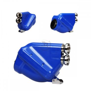 "Airbox 23mm, blue/chrome, type ""ACTIVE"", homologated"