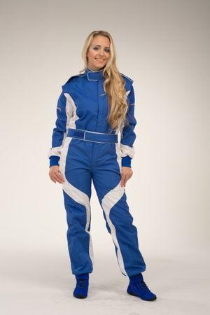 keep-racing Kartoverall, Modell Cruiser, blau/weiß, Größe 76(5XL) – Bild 2
