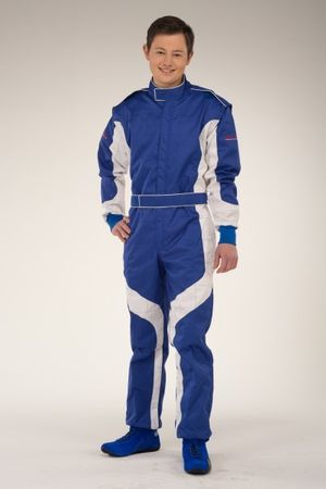 keep-racing Kartoverall, Modell Cruiser, blau/weiß, Größe 76(5XL) – Bild 1