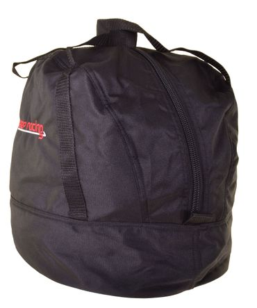 Standard Helmtasche schwarz, Innenfutter weiß, Reißverschluss    – Bild 2