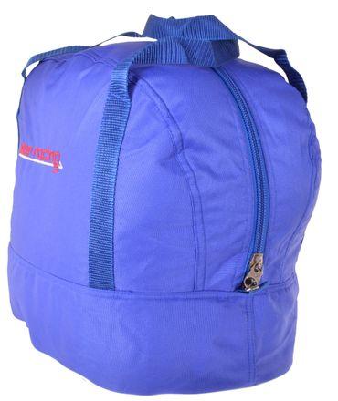 Standard Helmtasche blau, Innenfutter weiß, Reißverschluss    – Bild 2