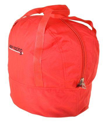 Standard Helmtasche rot, Innenfutter weiß, Reißverschluss    – Bild 2