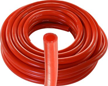 Silicone / polyester radiator hose, fabric hose, red, by the meter, keep-racing®